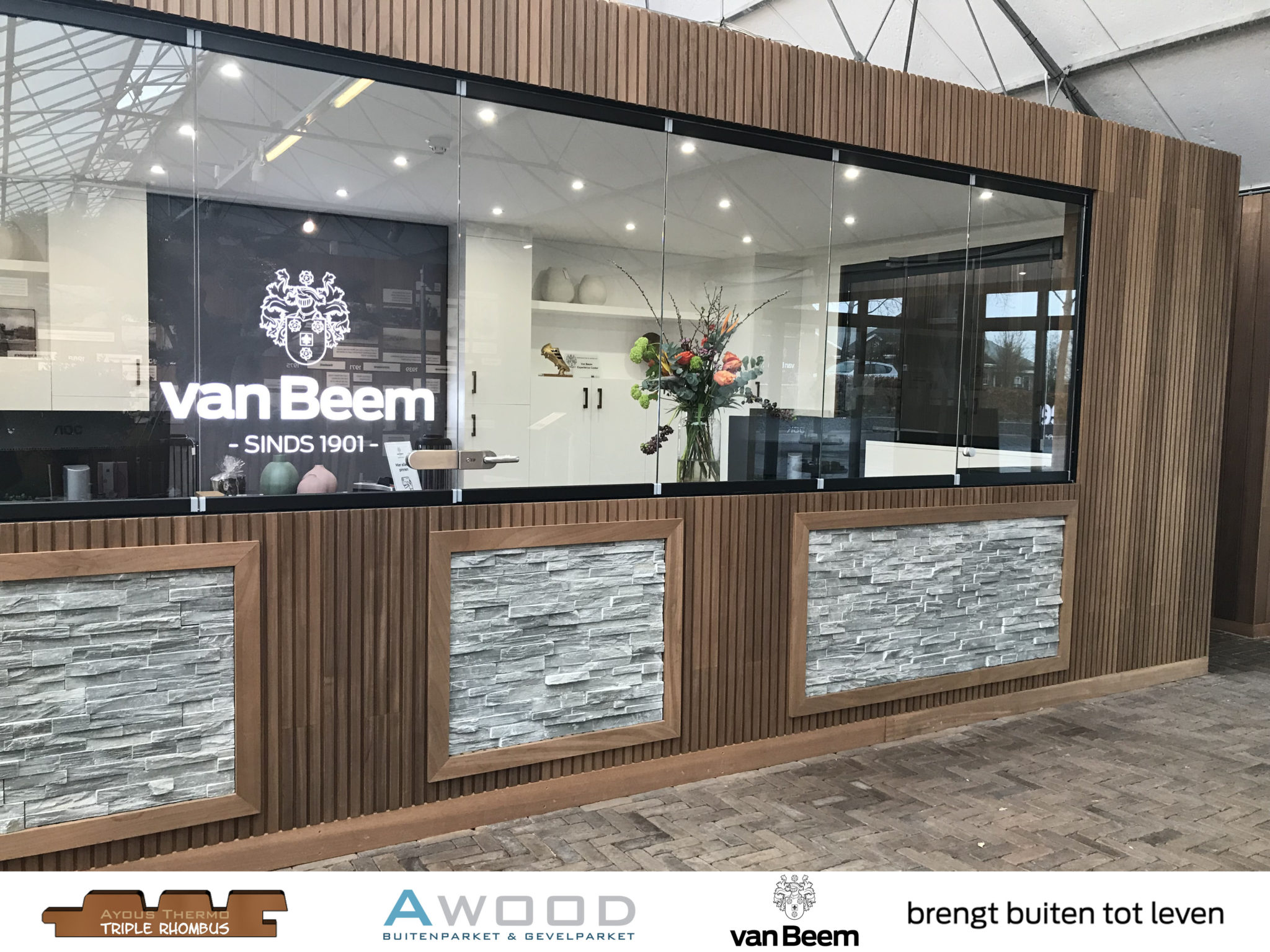 Triple Rhombus Ayous Van Beem showroom